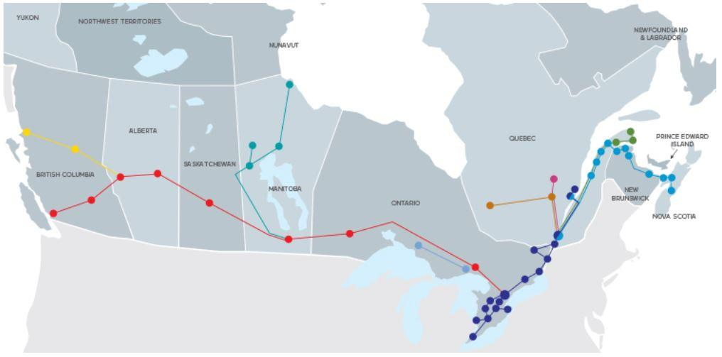 via rail map